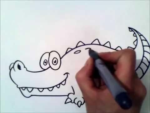 Как нарисовать ребенку крокодила