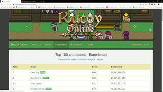 15k horas jogando e falando sobre a vida Rucoy Online