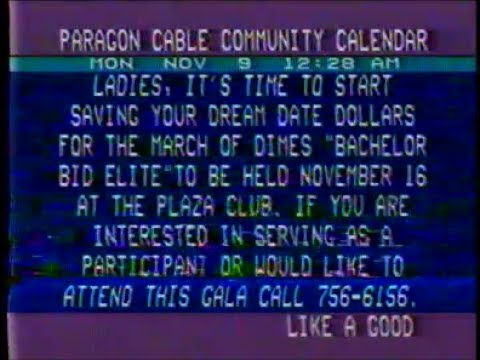 Flipping Through Cable Channels on 11/9/87