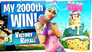 MY 2000th WIN IN FORTNITE! - I'm a Victory Royale no life...