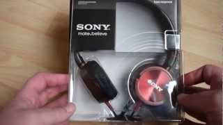 Sony MDR-ZX300 Stereo Studio Monitor Headphones Unboxing & Specs