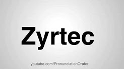 How to Pronounce Zyrtec
