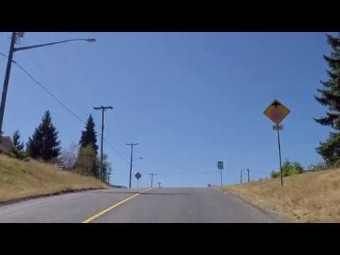 Ladysmith BC Canada - Driving in Town -  Houses/Property on Vancouver Island