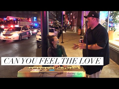 COSTCO PIANO GIRL & Lucas Levon in Chicago - Can You Feel the Love