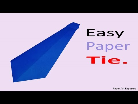 Origami neck tie make easy craft paper for Men | Easy tricks to make origami Paper Tie