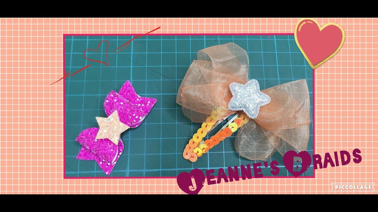 蝴蝶結髮飾    星星蝴蝶髮夾    髮飾材料包    簡單髮飾自製    手作    髮夾DIY