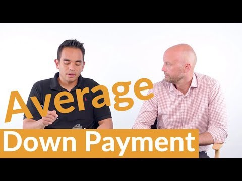 What's the average down payment when buying a home?