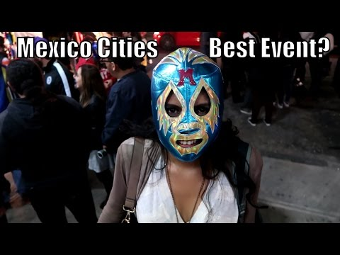 My First Lucha Libre Wrestling Event in Mexico City + Roma Tour !