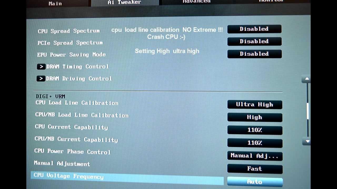 BIOS UEFI 1208 Setting : ASUS SABERTOOTH 990FX Overclock AMD FX 8120 5Ghz - YouTube