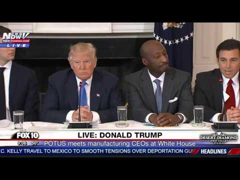 WATCH: Trump Announces NEW JOBS During Meeting with Manufacturing CEOs at White House