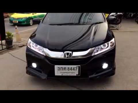 Honda City 2014 /Projector 8 เหลี่ยม & Daylight K.6 @ BB Lamp Xenon 087-598-1999