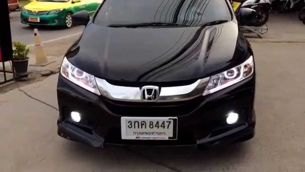 Honda city 2014 projector 8 daylight k 6 bb lamp xenon 087 598 1999 youtube