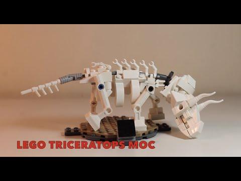 Lego triceratops skeleton moc review youtube - Lego dinosaurs spinosaurus ...