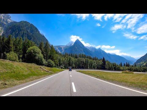 Driving the Maloja Pass, Switzerland & Italy