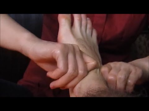 Foot Leg Massage with Relaxing Voice - ASMR no talking video