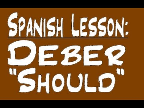 Spanish Lesson - Deber