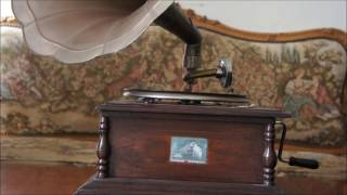 HIS MASTER'S VOICE GRAMOPHONE WITH GARRARD 30 MOTOR