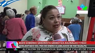 Gobierno Sandinista garantiza aguinaldo y pago adelantado del mes de enero a jubilados de Matagalpa