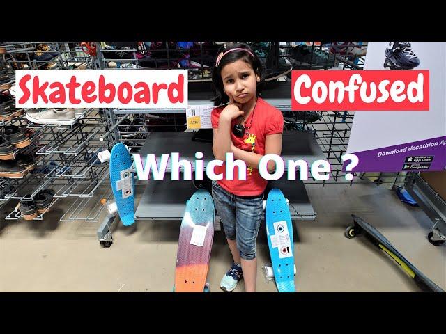 Skate board purchase Vlog in Hindi | Oxelo Kids Mini Plastic Skateboard / #LearnWithPari #decathlon
