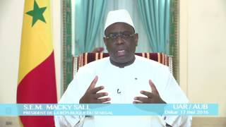 Soutien du  Président de la Republique  du Sénégal à l'Union Africaine de Radiodiffusion
