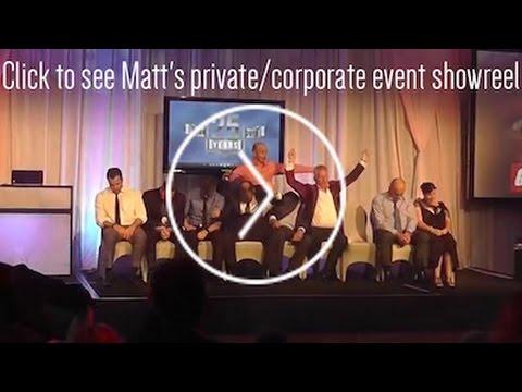 Matt Hale Comedy Hypnotist Corporate & Private Event Showreel 2015