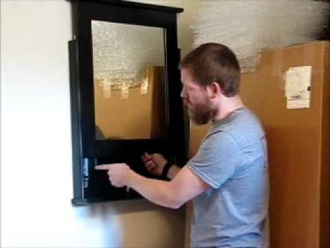 Wall Safe Mirror tactical walls locking concealment covers - youtube