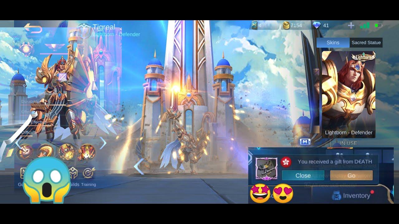 OMG! Got Lightborn Skin as GIFT - Mobile Legends! [Epic ...
