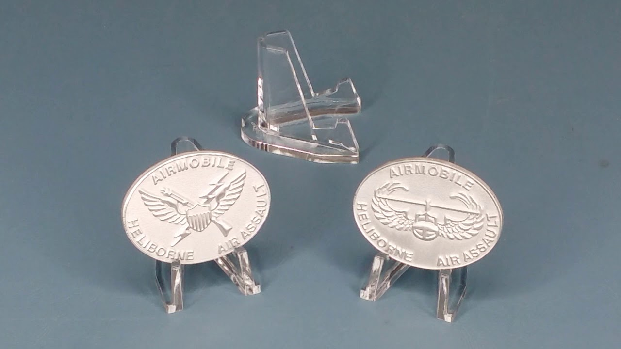 Aluminum Challenge Coins Plus Coin Display Stands