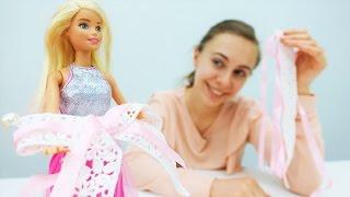 Делаем ЗАКОЛКУ своими руками для Барби. Видео для девочек