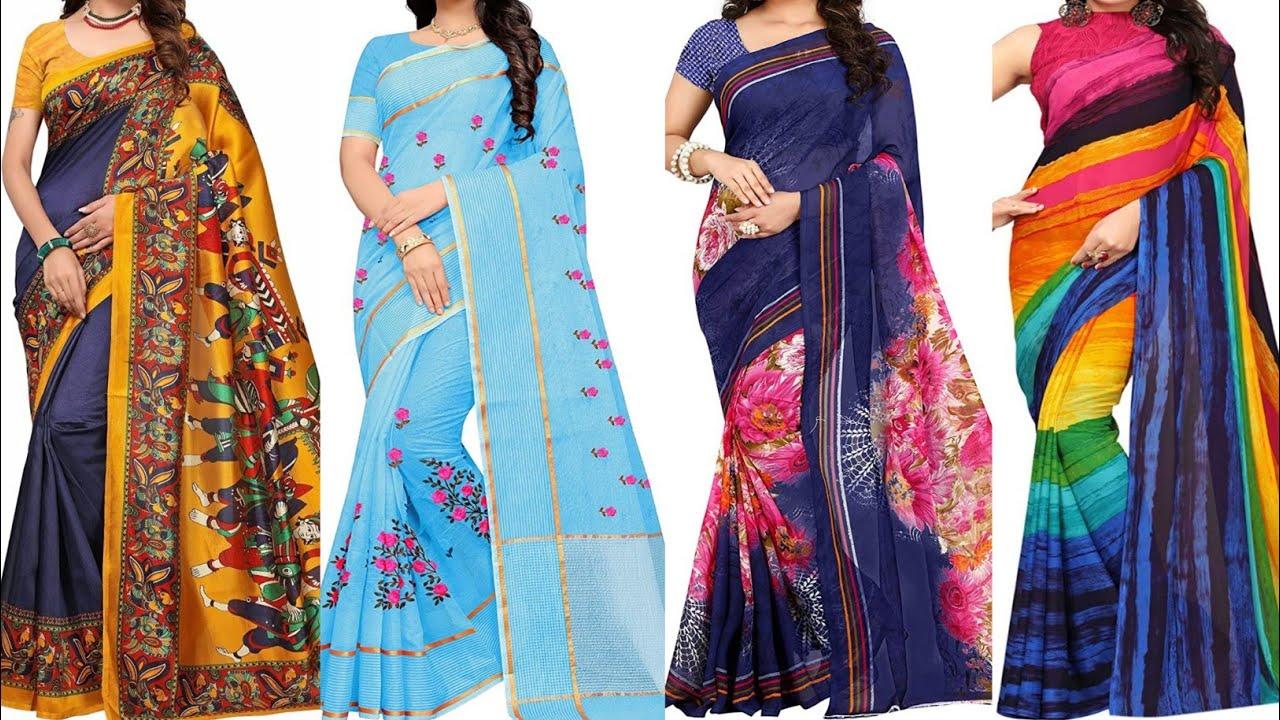 Download new saree design 2021 l latest saree draping style 2021 l online saree collection l saree ka design