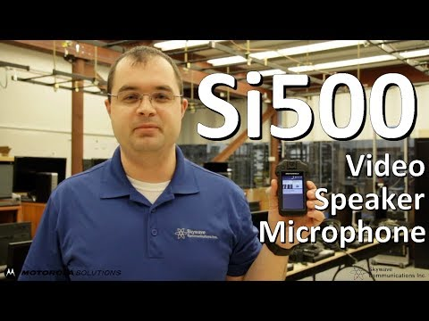Si500 Video Speaker Microphone (VSM) Sales Pitch - Skywave Communications