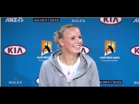Caroline Wozniacki Funny Video Press Conference
