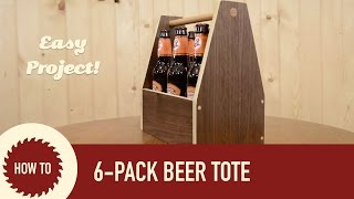 How To Make A Beer Tote/caddy