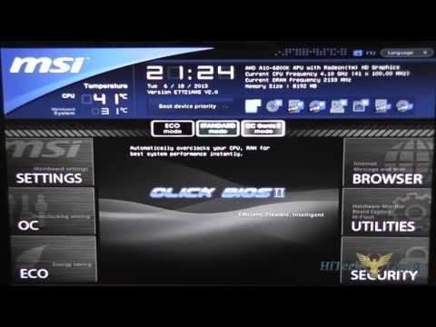 MSI FM2-A85XMA-E35 Micro ATX Motherboard UEFI BIOS Tutorial
