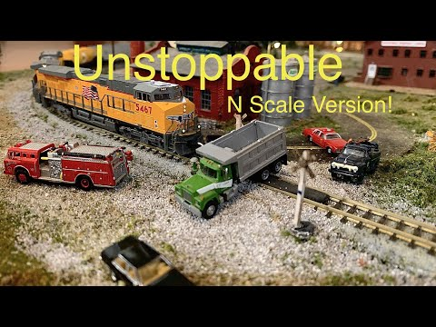 """Unstoppable"" Movie, N Scale Version! ""Runnin' """