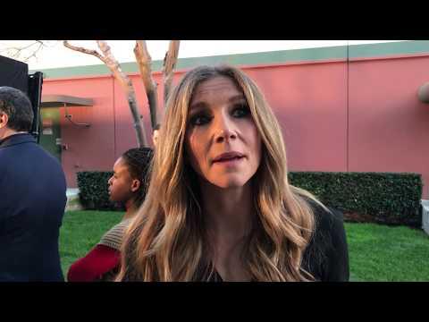Sarah Chalke at 'Roseanne' premiere red carpet for ABC