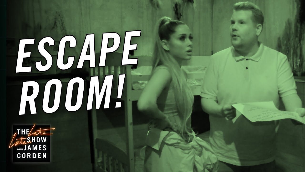 Ariana Grande and James Corden Visit a Terrifying Haunted Escape Room