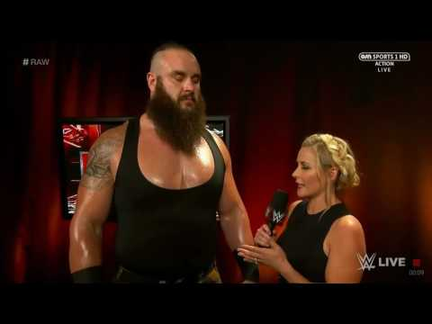 Braun Strowman and Renee Young Backstage