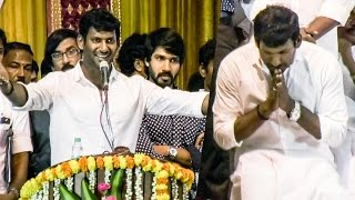 TEARS: Vishal Breaks Down During The Swearing In Ceremony | TN 70