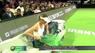 Türk Havlusu Şampiyonların Yanında! TEB BNP Tenis / Maria Sharapova - Çağla Büyükakçay Video