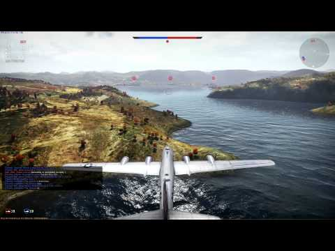War Thunder Gameplay - B-29 Base Bombing! EASY RP/