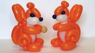 Белка из шаров / Squirrel of balloons twisting tutorial (Subtitles)