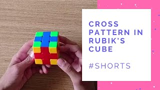 Cross/Plus Pattern in Rubik's Cube #Shorts #RubiksCube