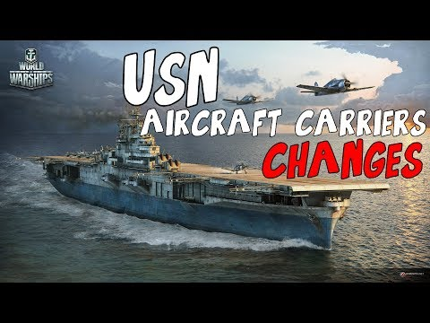 Changes in flight control for the USN aircraft carriers - World of Warships