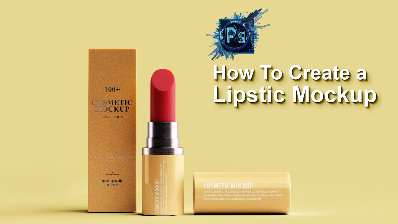 Download How to make Lipstick mockup | Photoshop Mockup Tutorial ... Free Mockups