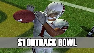 CRAZIEST FOOTBALL GAME EVER - NCAA FOOTBALL 06 DYNASTY OUTBACK BOWL