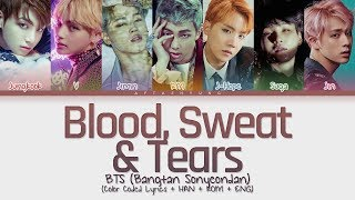 Download lagu BTS (방탄소년단) - Blood Sweat & Tears (피 땀 눈물) (Color Coded Lyrics/Han/Rom/Eng)