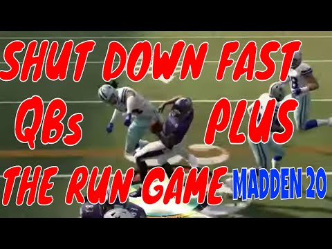 HOW TO PLAY LOCKDOWN DEFENSE IN MADDEN 20  SHUT DOWN THE RUN