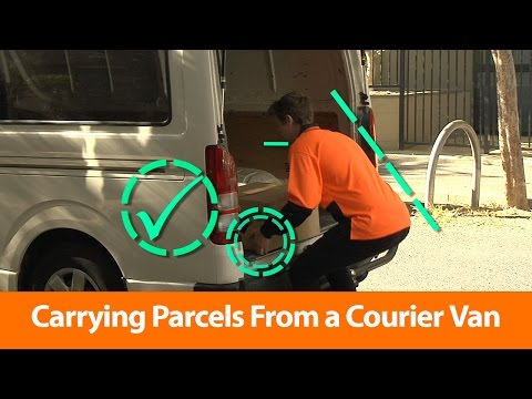 Carrying Parcels From A Courier Van - OHS Training Video