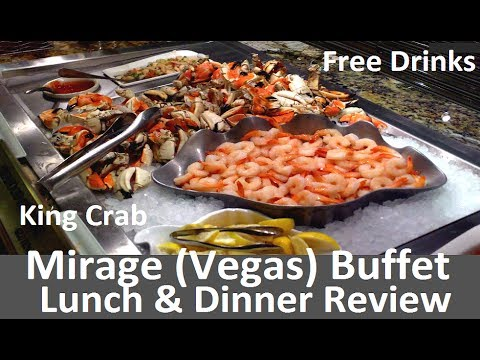 Mirage (Vegas) Buffet Lunch & Dinner Video Review: King Crab & Free Alcohol from top-buffet.com